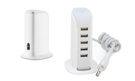 5-Port USB Charger (30W) for Mobile Devices