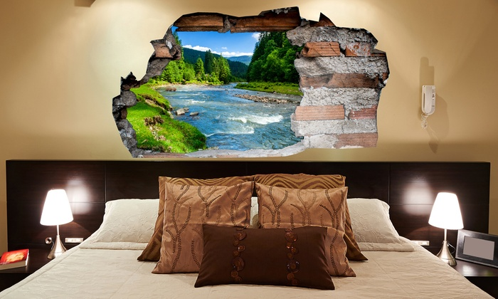 D Wall Stickers Groupon Goods - 3d effect wall decals