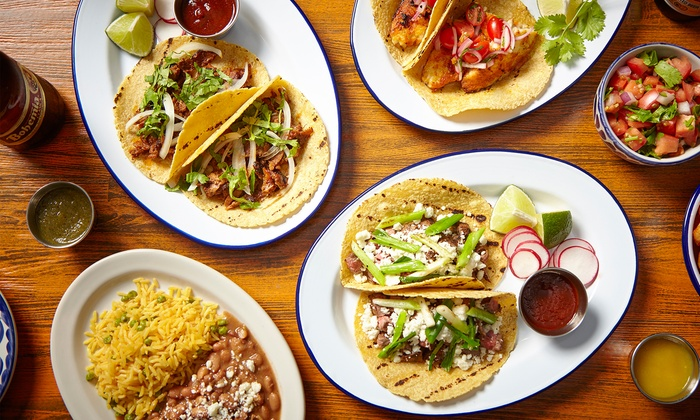 BBQ Joint by Taco Joint - Multiple Locations: $24 for Mexican Food and Margaritas for Two at BBQ Joint by Taco Joint (Up to $42 Value)