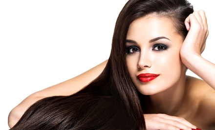 Cut with Option for Colored Gloss or Partial or Full Highlights at Lux Salon on the Miracle Mile (Up to 71% Off)