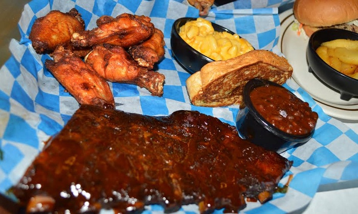 Jake's Smokehouse Bar-B-Que - Jake's Smokehouse Bar-B-Que: Barbecue Dinner for Two or Family Feast for Four to Five at Jake's Smokehouse Bar-B-Que (Up to 41% Off)