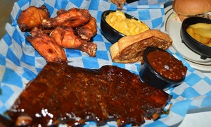 Jake's Smokehouse Bar-B-Que: Barbecue Dinner for Two or Family Feast for Four to Five at Jake's Smokehouse Bar-B-Que (Up to 41% Off)