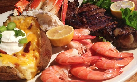 Dallas: $12 for $20 Worth of Southwestern-Style Seafood, Steak, and Sandwiches for Two at The Wild Turkey