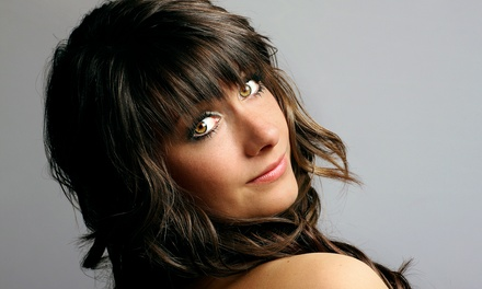 Haircut and Style with Optional Highlights, or Relaxer Retouch and Style at Shear Concepts Salon (Up to 55% Off)