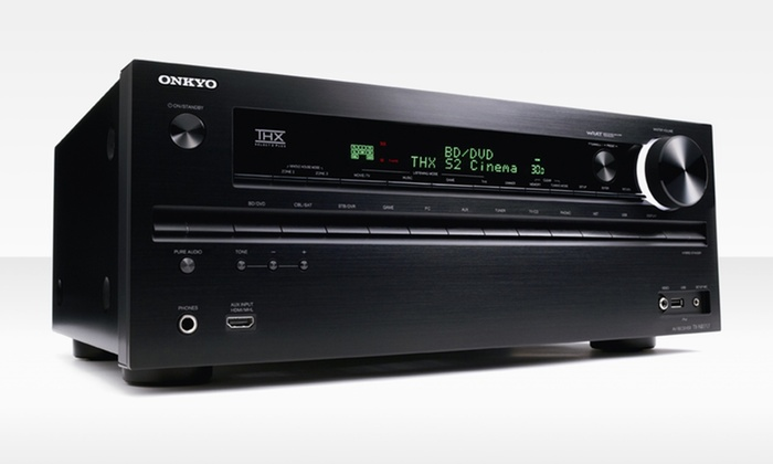 Onkyo TXNR717 7.2-Channel 3D Home-Theater Receiver: Onkyo TXNR717 7.2-Channel 3D Home-Theater Receiver. Free Shipping and Returns.