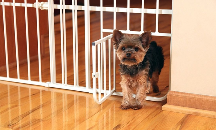 Carlson Expandable Pet Gate Groupon Goods