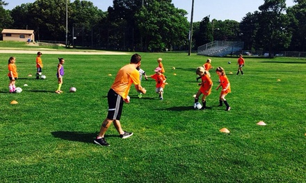 Five Full or Half-Days of Soccer Camp for Kids 4 to 14 from Global Premier Soccer NH