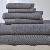 Clearance: Wexley Home 550 GSM Egyptian Cotton Towel Set (6-Piece)