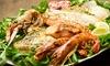1 kg di pesce alla griglia e vino