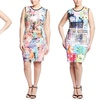 Cocoom Plus-Size Scuba Print Dresses