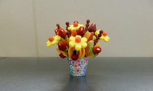 Delightful Fruit Flowers: Custom Fruit Flower Basket or One Dozen Chocolate Strawberries at Delightful Fruit Flowers (Up to 46% Off)