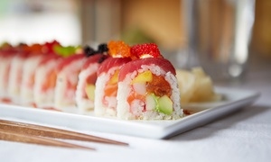 Cucumber Sushi and Salad Bar: Sushi Meal for Two or Four with Soups, Salads, and Coffees at Cucumber Sushi and Salad Bar (Up to 54% Off)