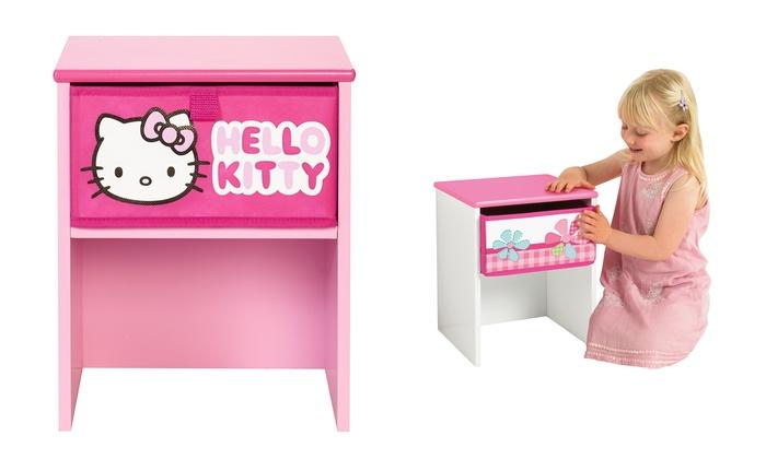 tables de chevet roses pour enfant groupon shopping. Black Bedroom Furniture Sets. Home Design Ideas