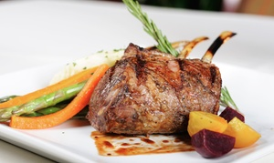 $99 For Romantic American Dinner At The Ranch House ($234 Value)