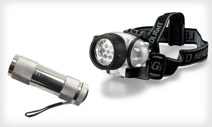 LED Headlamp and Flashlight Set: $4.99 for an LED Headlamp and Flashlight Set ($22.99 List Price). Free Returns.