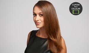 Doma Hair & Beauty: Doma Hair & Beauty – Asa Norte: progressiva e escova modeladora (opção com design de sobrancelhas e corte)