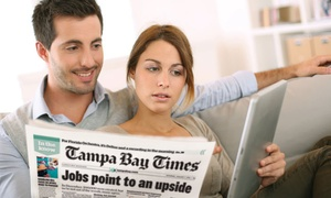 """Tampa Bay Times"": $10 for One-Year Sunday-Delivery Subscription with Digital Access from ""Tampa Bay Times"" ($117 Value)"