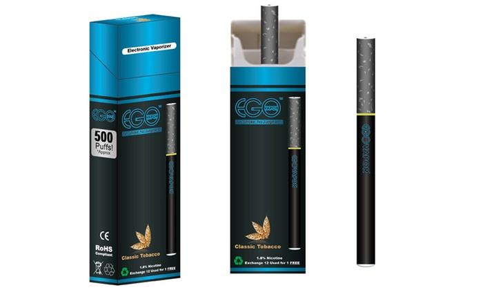 Ego Vapor - Amsterdam Tobacco: 6-Pack, 8-Pack, or 12-Pack of Disposable E-Cigarettes from Ego Vapor (Up to 62% Off)