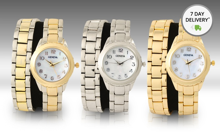 Women's Metal Chain Wrap Watches: Women's Metal Chain Wrap Watches in Gold-, Rose-Gold-, Silver-, or Two-Tone Styles. Free Shipping and Returns.