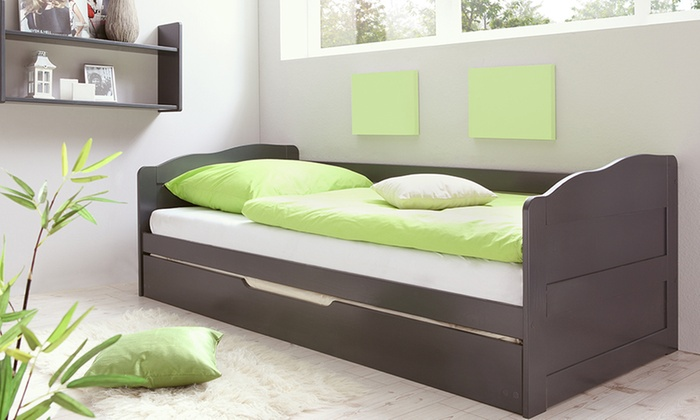 canap avec lit tiroir groupon. Black Bedroom Furniture Sets. Home Design Ideas
