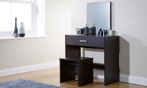 Julia Wood Effect Dressing Table Groupon Goods
