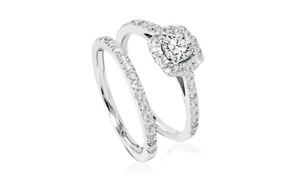 1.00 CTTW Diamond Bridal Set in 14K Gold - By Bliss Diamond