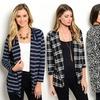 Women's Printed Longline Blazers or Jacket
