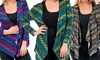 Women's Plus-Size Tribal-Print Cardigan: Women's Plus-Size Tribal-Print Cardigan