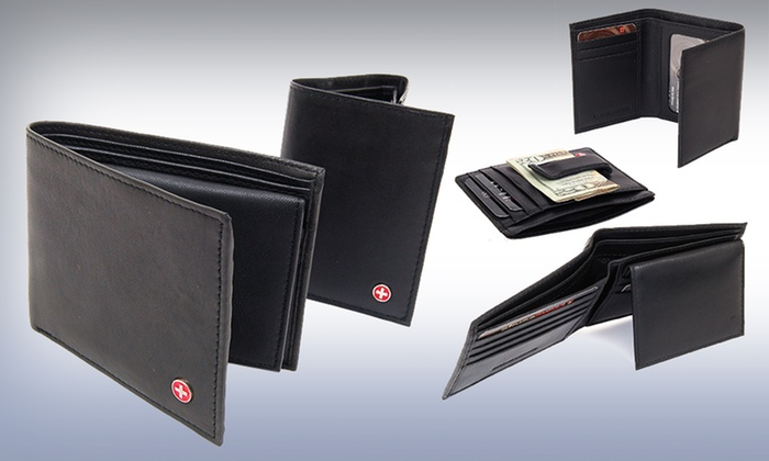 Alpine Swiss Men's Leather Wallets: $9.99 for an Alpine Swiss Men's Leather Wallet (Up to $45 List Price). Multiple Styles Available. Free Returns.