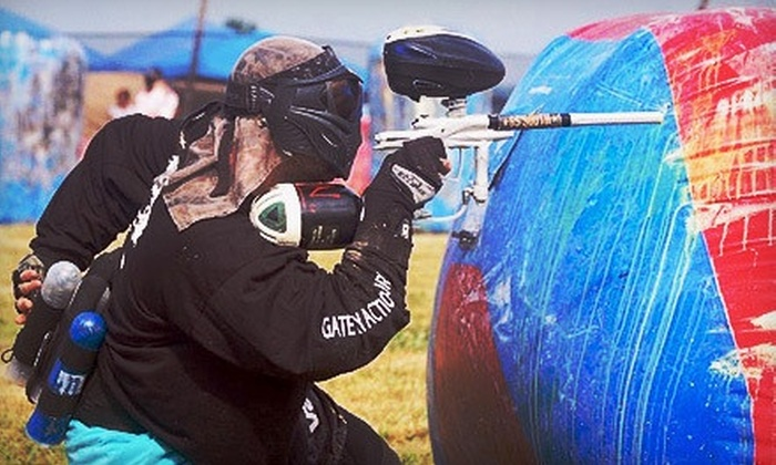 Red Leg Action Sports - Clarksville: Paintball Package with Gear Rental for Two, Four, or Six at Red Leg Action Sports (Up to 61% Off)