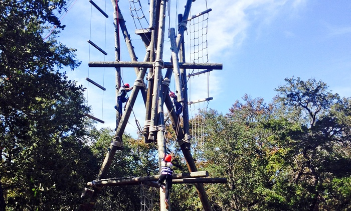 Don Strange of Texas / Waring General Store - Boerne: Zipline Ride, Tower Climb, and Lunch for One or Two at Don Strange Ranch Adventure Challenge Course (53% Off)