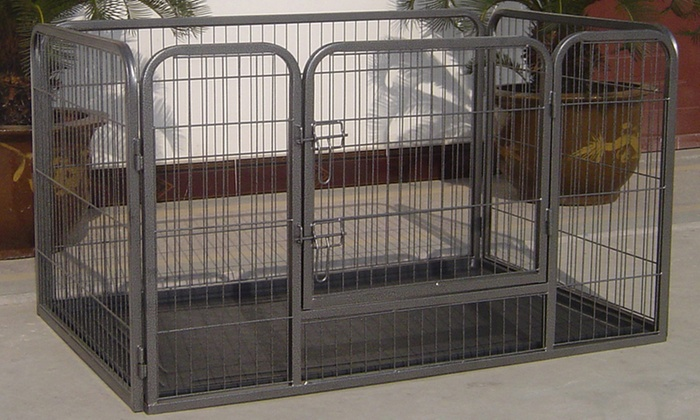 Heavy-Duty Pet Playpen and Training Kennel | Groupon