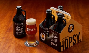 42% Off Craft Beer Growlettes from Hopsy at Hopsy, plus 6.0% Cash Back from Ebates.