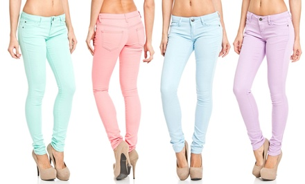 groupon daily deal - Icon Apparel Colored Fashion Jeans. Multiple Colors Available. Free Returns.