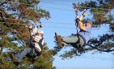 Day or Night Zipline Adventure for Two, Four, or Six at Zip Nac (Up to 40% Off)