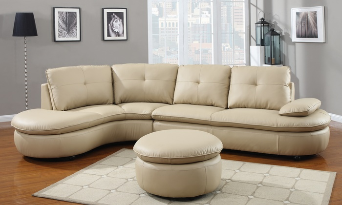 Sectional sofas and sets groupon goods for Sofa set deals
