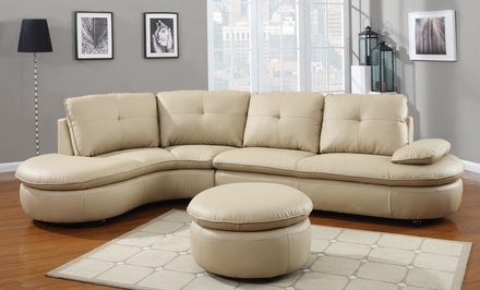 Sectional sofas and sets groupon goods for Sectional sofa groupon