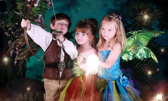 Enchanted Fairies Studio - Shops of Willow Bend: Costumed Photo Shoot for One, Two, or Three Kids with Print at Enchanted Fairies Studio (Up to 90% Off)