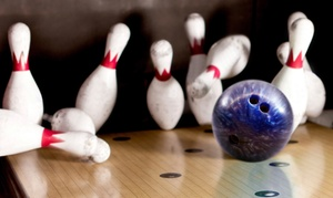 Fatman Sports Lounge & Lanes: One Hours of Bowling for Up to 6 or 12 with Shoes and Drinks at Fatman Sports Lounge & Lanes (Up to 72% Off)