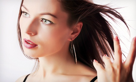 Cut and Blowout with Choice of Extras at Utopia Salon and Day Spa (Up to 69% Off). Three Options Available.