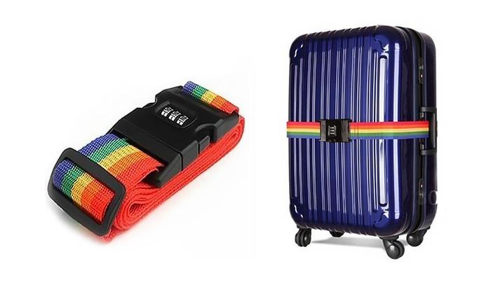Rainbow Luggage Strap | Groupon Goods