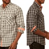 Something Strong Men's 2-Pocket Plaid Shirt