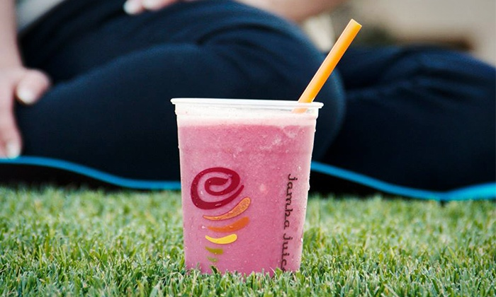 Jamba Juice - Multiple Locations: Three or Five Groupons, Each Good for One 12 Oz. Juice and One Oatmeal at Jamba Juice (41% Off)