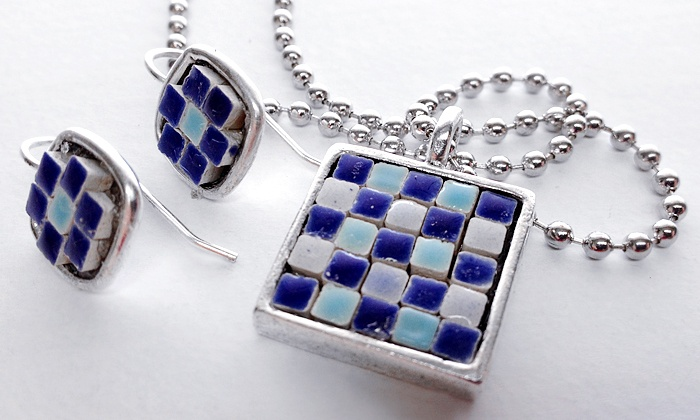 Laura K. Aiken Studio - Viola Street Area: One-Hour, BYOB Mosaic Jewelry-Making Class for One or Two from Laura K. Aiken Studio (Up to 52% Off)