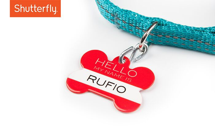Shutterfly: $2.99 for One Custom Pet Tag from Shutterfly (57% Off)