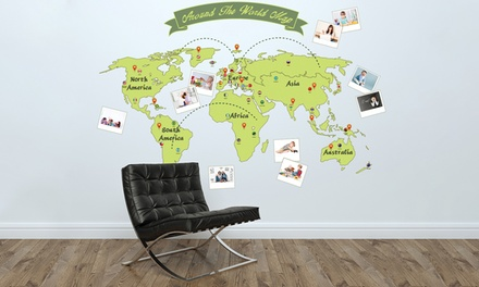 World Map Wall Sticker in Choice of Design for £9.98