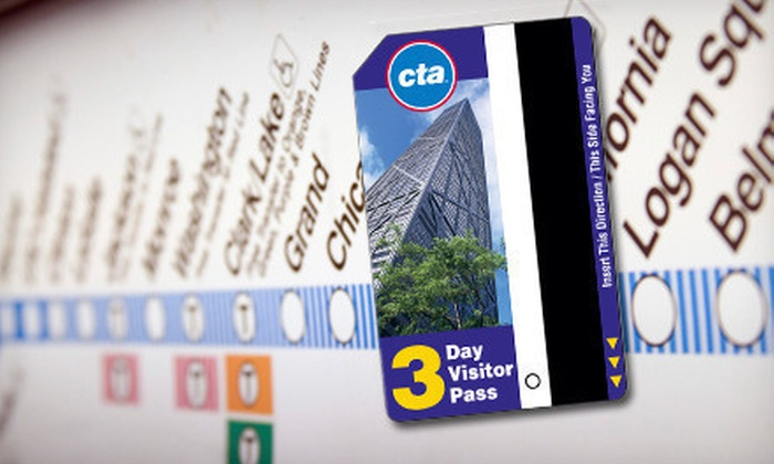 Chicago Transit Authority: $9 for a 3-Day Pass from the Chicago Transit Authority ($20 Value)