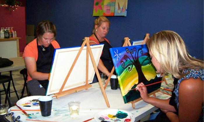 Paint n pour in maynard massachusetts groupon for Paint n pour