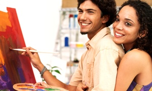 Dabble Studio: BYOB Painting or Painting and Cooking Class for Two at Dabble Studio (Up to 56%Off)