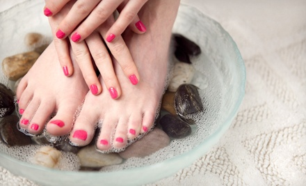 One or Two Express Mani-Pedis at The Ridgefield Salon & Spa (Up to 57% Off)